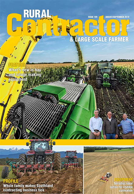 Rural Contractor magazine cover featuring article on Walsh Contracting